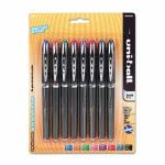 Uni-ball Stick Roller Ball Pen, Assorted Ink, Super Fine, 8 Pens (UBC58092PP)