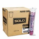 Solo Paper Hot Cups, 12-oz., Bistro Design, 1,000 Cups (SCC412SIN)