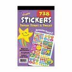 Trend Sticker Assortment Pack, Super Stars and Smiles, 738 Stickers (TEPT5010)