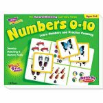 Trend Numbers 0-10 Match Me Puzzle Game, Ages 3-6 (TEPT58102)