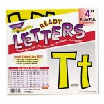 "Trend Ready Letters Playful Combo Set, Yellow, 4""h, 216/Set (TEPT79743)"
