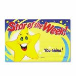Trend Recognition Awards, Star of the Week!, 8-1/2w x 5-1/2h, 30/Pack (TEPT8107)