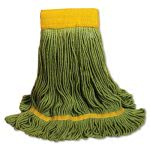 Boardwalk EcoMop Mop Head, Recycled Fibers, Large, Green, 12/Carton (BWK1200LCT)