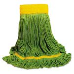 boardwalk-looped-end-mop-head-recycled-fibers-medium-green-bwk1200mea