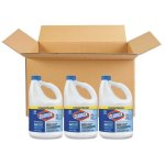 Clorox Concentrated Germicidal Bleach, 121 oz, Regular, 3 Bottles (CLO30966CT)