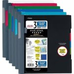 Five Star Advance Wirebound 3 Subject 150 Shts Notebook, Asst Colors (MEA06324)