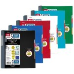 Five Star Advance Wirebound 5 Subject 200 Shts Notebook, Asst. Colors (MEA06326)
