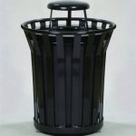 witt-36-gallon-steel-receptacle-with-rain-cap-black-witt-wc3600-rc-bk