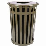witt-36-gal-brown-trash-receptacle-with-flat-top-oakley-collection-witt-m3601-ft-bn