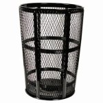 48-gallon-black-expanded-metal-outdoor-trash-recptacle-witt-exp-52bk