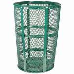 48 Gallon Green Expanded Metal Outdoor Trash Receptacle (WITT-EXP-52GN)