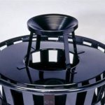 Witt Ash Top Trash Can Lid, Black (WITT-M2401-ATL-BK)