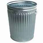 Witt 24 gal. Galvanized Trash Can - Galvanized Cans & Lids (WITT-WHD24C)