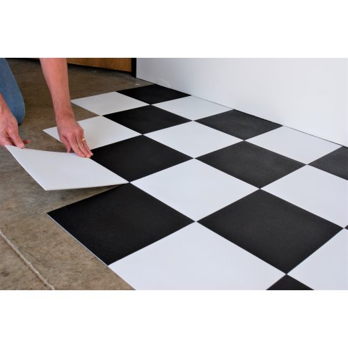 G Floor Better Life Technology 95 Mil Raceday Tile 12 Levant Peel And Stick Absolute White Pack Of 20 T95lv12aw20p3