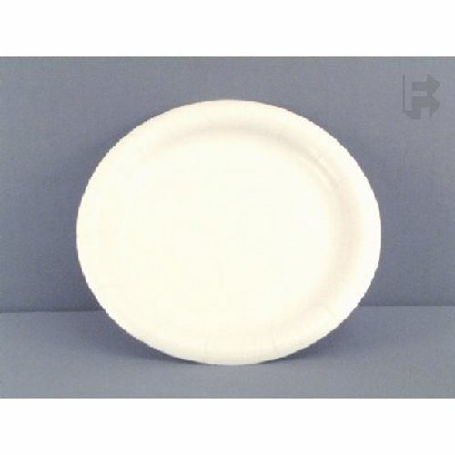 Ajm Packaging Corporation 9  Fonda Smartware Coated Paper Plates - White - In Poly Bags (4/125) 500/Case (FOR-5765)  sc 1 st  CleanItSupply.com & AJM 9
