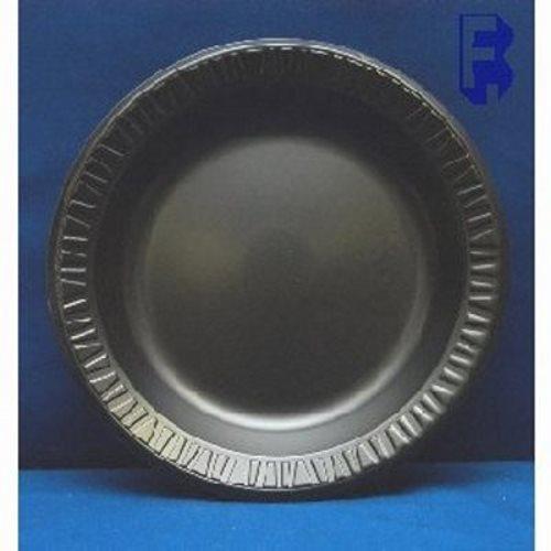 Dart 9 Quot Classic Black Foam Plates Laminated 500 Plates