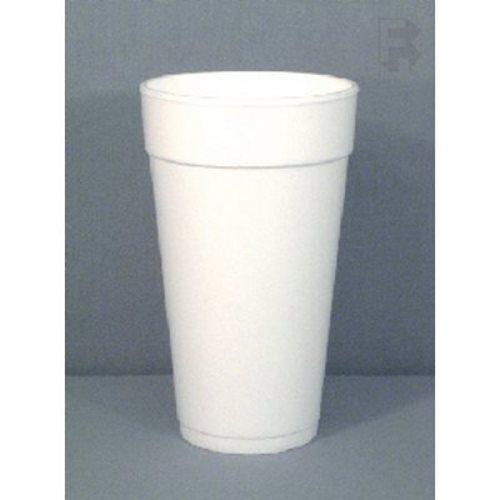 DART Drink Foam Cups Hot//Cold 24oz White 500//Carton 24J24