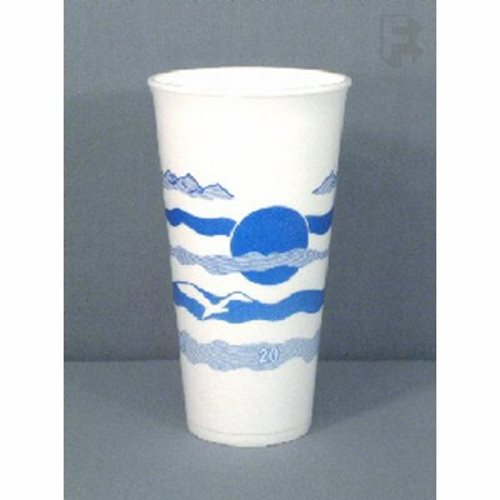 Dart Container 20 Oz Horizon Design Foam Cup Blueberry Color Design Use 16 Series Lid 25