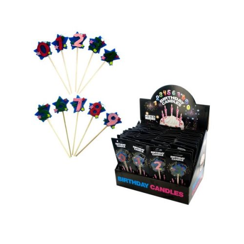 Bulk Buys Stick Birthday Candles Counter Top Display KOLE OC207