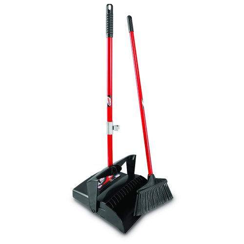libman 919 lobby broom dust pan w open lid 2 sets lib 00919. Black Bedroom Furniture Sets. Home Design Ideas