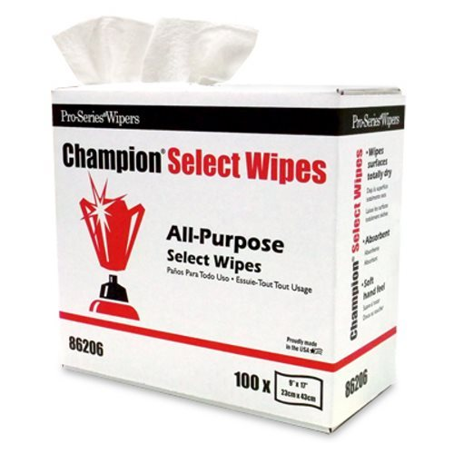 Pro-Series 86206 Champion Select Wipes, 8 Pop-up Boxes, 800 Wipes  (MDI-86206)
