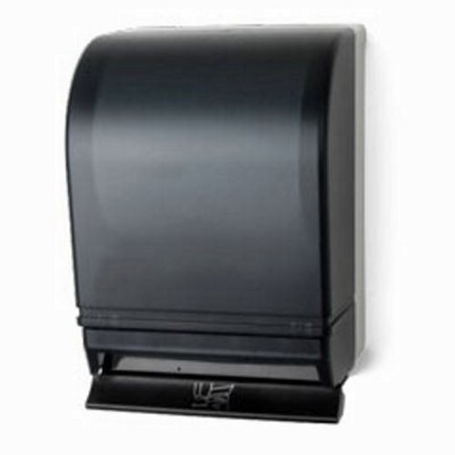 auto transfer push bar lever roll paper towel dispenser dark pfo td0215 01 - Paper Towel Dispenser