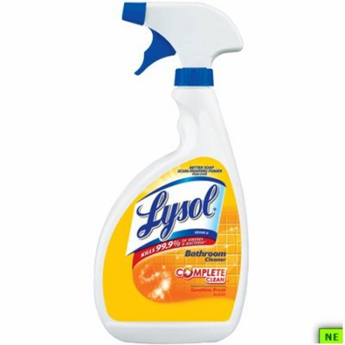 Lysol Bathroom Cleaner 32 Oz Green Apple Breeze 12cs Sunshine Fresh Shr Rec77660