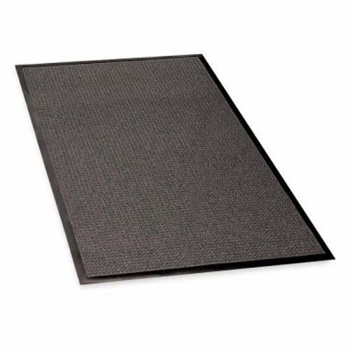 Indoor/Outdoor Mat, Rubber Cleated Backing, 3\'x5\', Charcoal GJO59473 ...