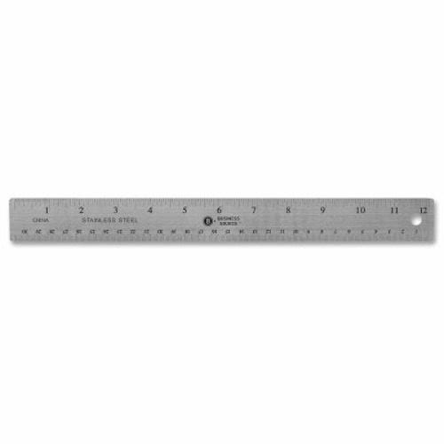 Business Source 12-Inch Stainless Steel Non-Skid Ruler 32361