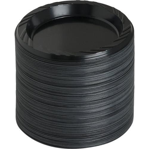 Genuine Joe Reusable Plastic Black Plates (GJO10427CT)  sc 1 st  CleanItSupply.com & Genuine Joe Reusable Plastic Black Plates GJO10427CT