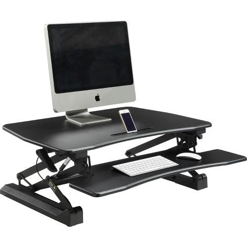 Lorell Adjustable Desk Riser, Gas Lift, 26 1/2 X 38 1/2 X 9 1/4 (LLR99553)
