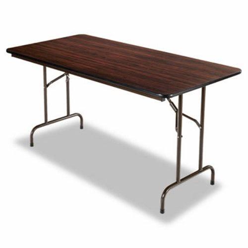 30 X 60 Folding Table.Alera Wood Folding Table Mahogany 60 X 30 X 29 Aleft726030my