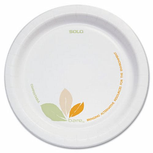 Solo Cup Bare 6  Paper Plates Green/Tan Accents 500 Plates (SCCOFMP6J7234)  sc 1 st  CleanItSupply.com & Solo Bare 6