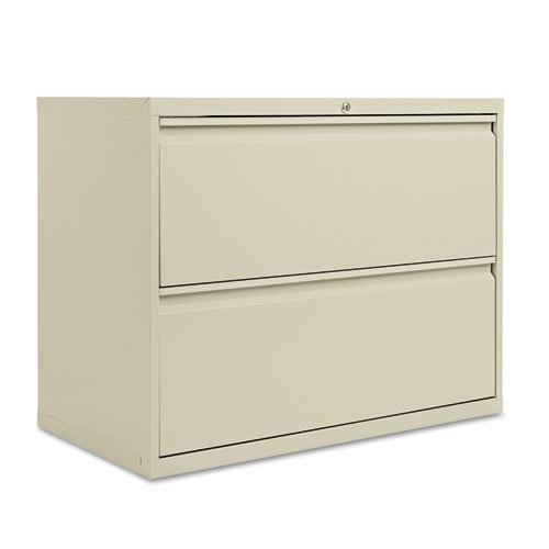 Beau Alera Two Drawer Lateral File Cabinet, 36w X 19 1/4d X 29h, Putty  (ALELF3629PY)