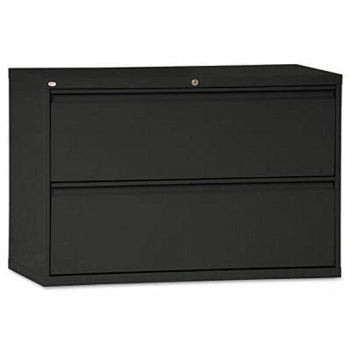 Alera Two Drawer Lateral File Cabinet, 42w X 19 1/4d X 29h, Black  (ALELF4229BL)