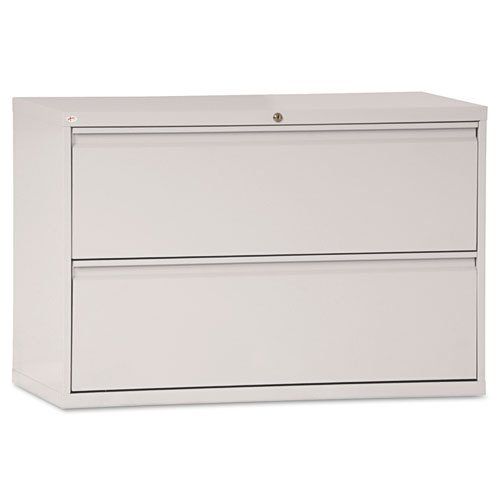 Alera Two Drawer Lateral File Cabinet 42w X 19 1 4d X 29h Light Gray Alelf4229lg