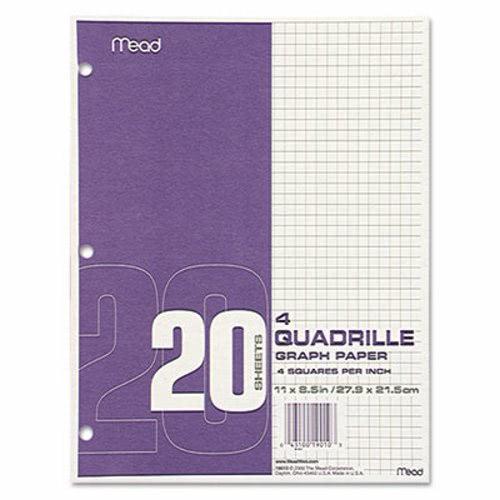 mead quadrille graph paper quadrille 4 sq in 8 1 2 x 11 white