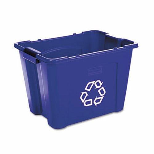 Rubbermaid 14 Gallon Recycling Bin Blue Rcp 5714 73 Blu