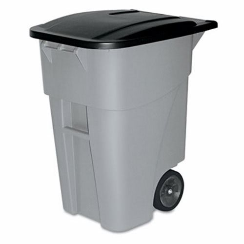 rubbermaid 9w27 brute 50 gallon rollout trash can wlid gray rcp 9w27 gra