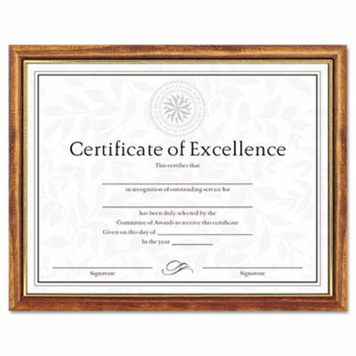 Dax Two Tone Document Frame Wood 8 12 X 11 Maple Wgold Leaf