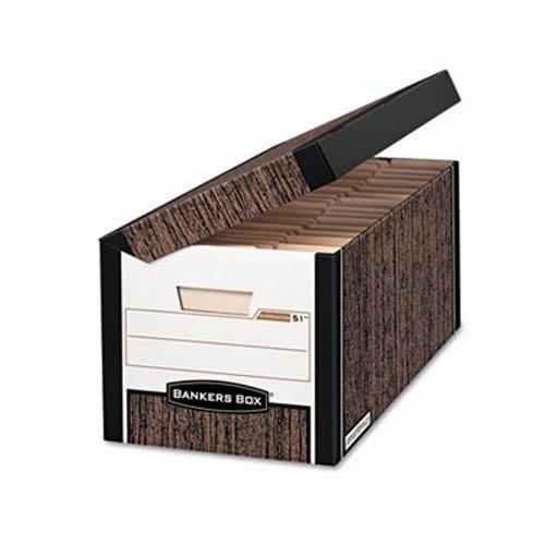 Bankers Box FastFold File Storage Box, Letter, Woodgrain, 12/Carton  (FEL00052)