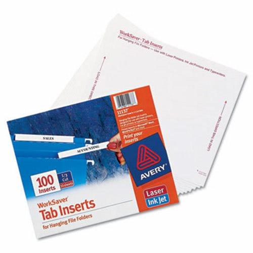 avery laser inkjet hanging file folder inserts 1 3 tab 3 1 2 inch