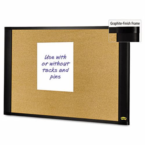 post it sticky cork board 36x24 frame color graphite mmma3624g