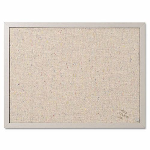 MasterVision Designer Fabric Bulletin Board, 24X18, Gray Fabric/Gray ...