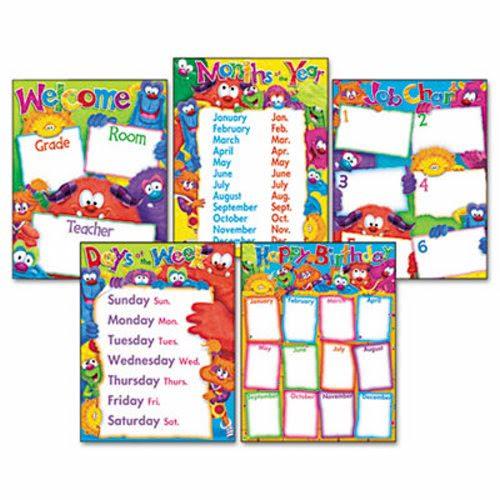 Trend Learning Chart Combo Pack, FF Classroom Basics, 5 Charts (TEPT38964)