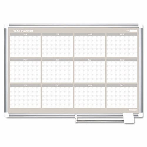 mastervision mastervision 12 month planner 48x36 aluminum frame