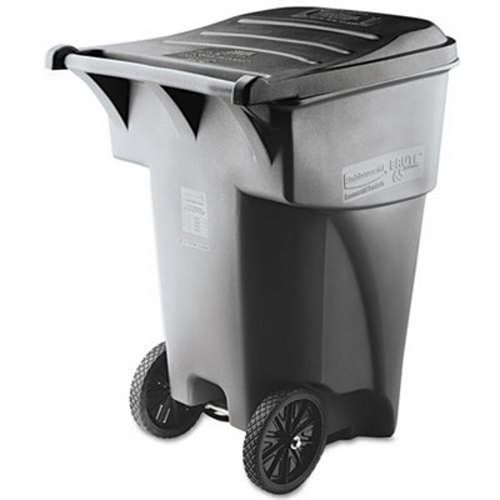 rubbermaid 9w22 brute 95 gallon heavy duty rollout trash can gray rcp9w22gy - Rubbermaid Trash Cans