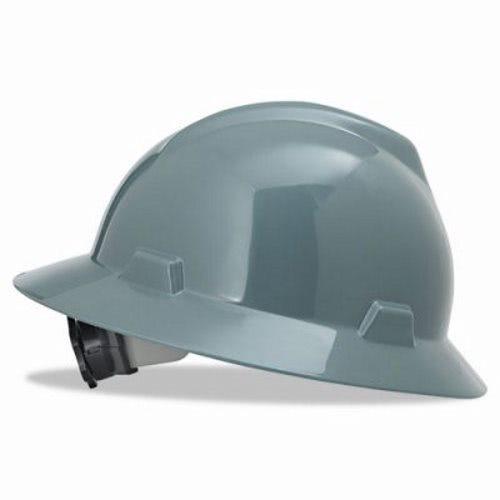 MSA V-Gard Hard Hat w/Ratchet Suspension, Size 6 1/2 - 8, Gray (MSA475367)