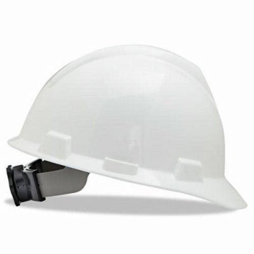 MSA V-Gard Hard Hats w/Fas-Trac Ratchet Suspension, Large, White (MSA477482)