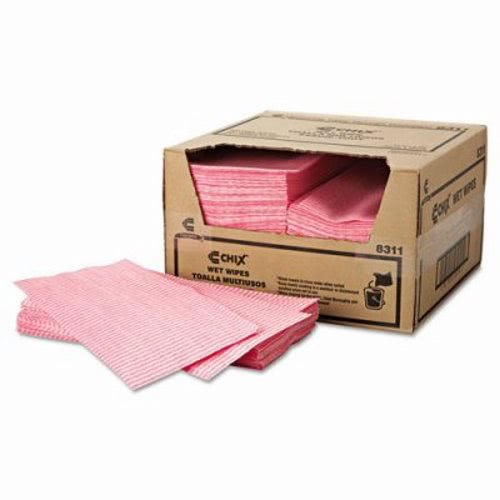 Chix Wet Wipes Food Service Towels 200 Towels White//Pink CHI8311